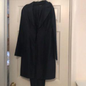 Silk long jacket and Capri pants